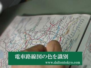 電車路線図の色を識別、色盲色弱の色覚検査 色覚テスト 色覚異常