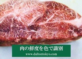 肉の色を識別、色盲色弱の色覚検査 色覚テスト 色覚異常
